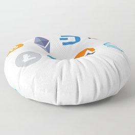 Cryptocurrencies Floor Pillow