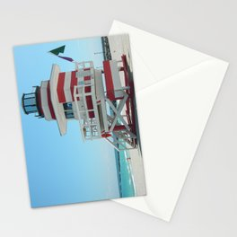 lifeguard shack 2 Stationery Cards