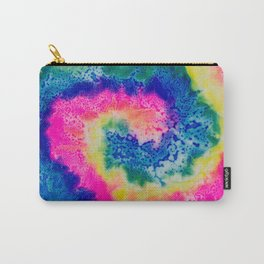 Rainbow Hypno Spiral Carry-All Pouch