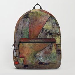 """Paul Klee """"Schicksalstunde um dreiviertel zwölf (Fate hour at three-quarters twelve)"""" Backpack"""