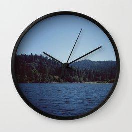 Southern California Lake Day Wall Clock