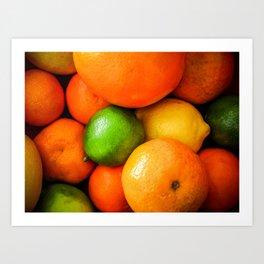 Oranges Lemons & Limes Art Print