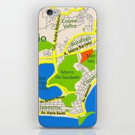 RIO map design - Brasil iPhone Skin