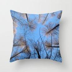 Glowing trees II Throw Pillow