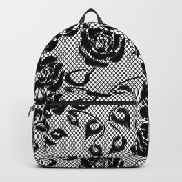 Italian Roses Lace Pattern Backpack