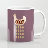 chicken Mugs featuring Chicken by Mira Maijala