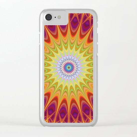 Mandala sun Clear iPhone Case