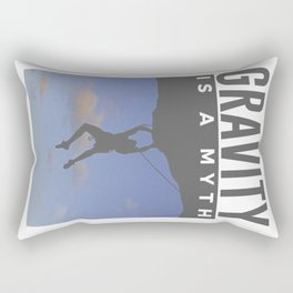 Gravity Is A Myth Rock Wall Climbing Rectangular Pillow