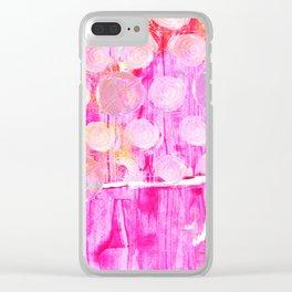 Luminosity of cerise Clear iPhone Case