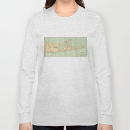 Vintage Road Map of Long Island (1905) Long Sleeve T-shirt