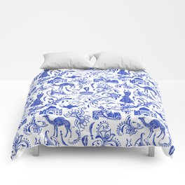 Arabian Nights // China Blue Comforters