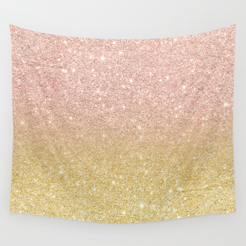 Goldglitter Wall Tapestries | Society6