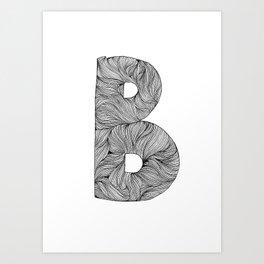 Hand Drawn Font B Art Print