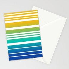 Bay Ombre Stripe: Sunrise Stationery Cards