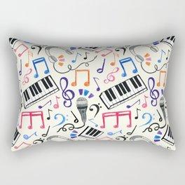 Good Beats - Music Notes & Symbols Rectangular Pillow