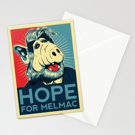 Hope For Melmac, Obama Yes We Can Parody With Alf Alien, Original Design T-Shirt, tshirt, tee, jerse Stationery Cards