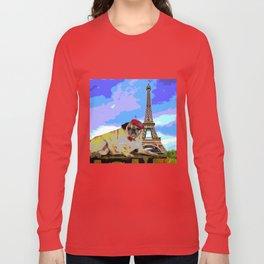 A Pug in Paris Long Sleeve T-shirt