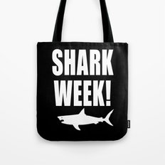 Shark week (on black) Tote Bag