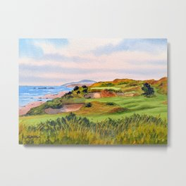 Pacific Dunes Golf Course Oregon WA Hole 11 Metal Print
