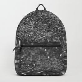 Silver Gray Black Glitter #1 (Faux Glitter - Photography) #shiny #decor #art #society6 Backpack