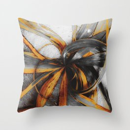 spiral leaves texture abstract background Throw Pillow