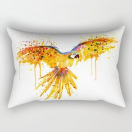 Flying Parrot watercolor Rectangular Pillow