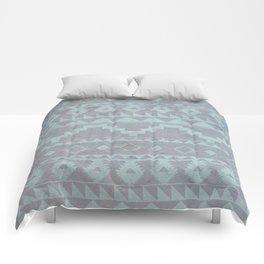 Mint & Gray pattern Comforters