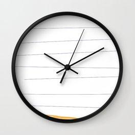 lineup yellow Wall Clock