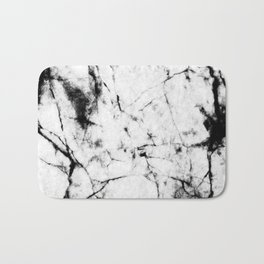 Marble Concrete Stone Texture Pattern Effect Dark Grain Bath Mat