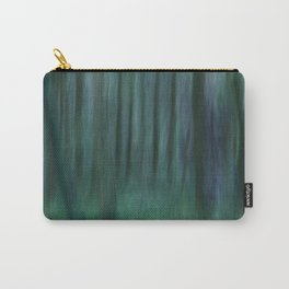 Painted Trees 2 Aqua Carry-All Pouch