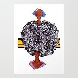 Afro Opposites Art Print
