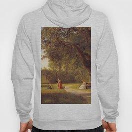 Hans Gude Painting -  Parklandskap Med Figurer 1856  | Reproduction | Norwegian Art Hoody