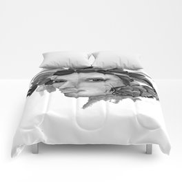 THE INDIAN WOMAN  / ORIGINAL DESIGN FROM bykazandholly  Comforters