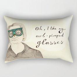 I Like My Owl-Pimped Glasses Rectangular Pillow