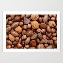 Mixed nuts Art Print