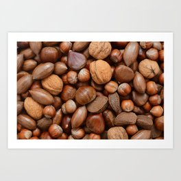 Mixed nuts Art Print