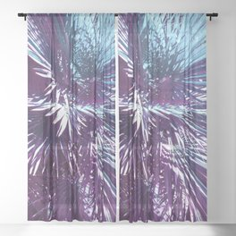 Lost in the wild - Tropical Palm leaves #tropicalart #buyart #Society6 Sheer Curtain