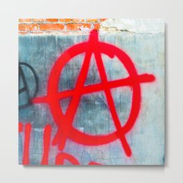 Anarchy Graffiti Metal Print