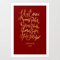 gryffindor Art Prints featuring Gryffindor 1978 by Jayne C.