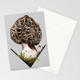 Morchella esculenta - the common morel Stationery Cards