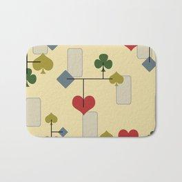 Atomic Era Card Suite Art Bath Mat