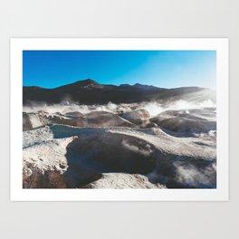 Geysers in the Atacama Desert, Bolivia Art Print