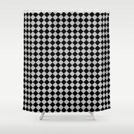Black and Gray Diamonds Shower Curtain
