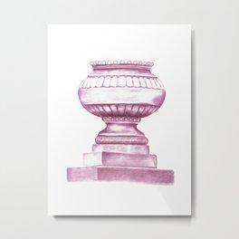Purple Jardinere Metal Print