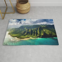Island of Kauai, Hawaiian Islands Rug