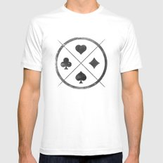 Wild Card White MEDIUM Mens Fitted Tee