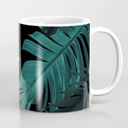 Tropical Banana Night Leaves Pattern #1 #tropical #decor #art #society6 Coffee Mug