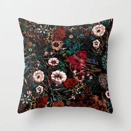 Night Garden XXVII Throw Pillow