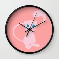 mew Wall Clocks featuring Mew by Polvo