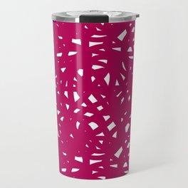 Pink Freeform Travel Mug